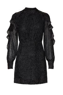 Black Printed Mini Dress by PINKO
