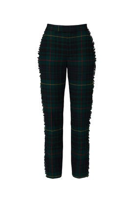 Plaid Fringe Seam Pants by Polo Ralph Lauren