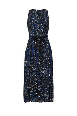 Blue Printed Georgette Dress by Proenza Schouler