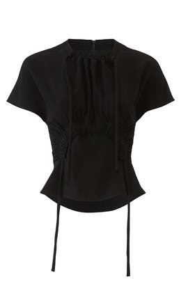 Textured Novel Tie Top by Proenza Schouler