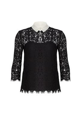 Black Oliver Lace Top by Rachel Zoe