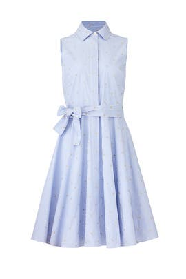 Blue Stripe Day Dress by Badgley Mischka
