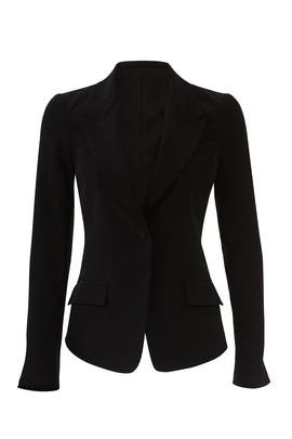 Black Single Button Blazer by Co