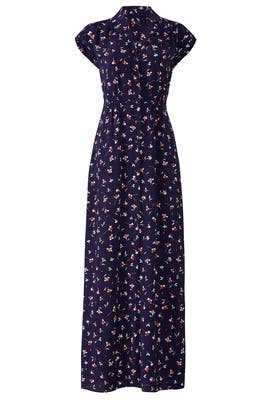 Navy Floral Printed Maxi by Draper James