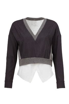 Midnight Stripe Sweater by Derek Lam 10 Crosby