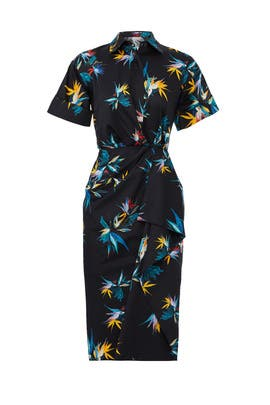 Printed Drape Shirtdress by Jason Wu