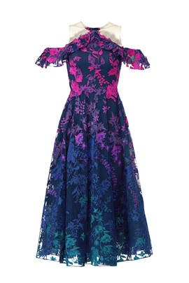 Ombre Floral Dress by Marchesa Notte