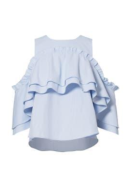 Blue Striped Elle Top by Nicholas