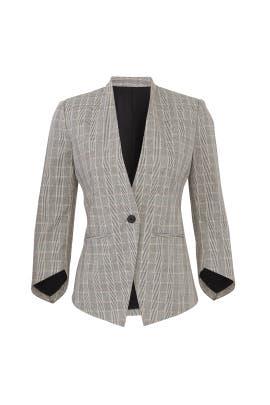 Grey Plaid Blazer by Slate & Willow