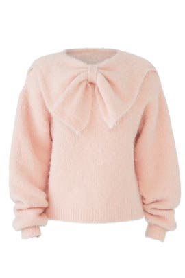 Powder Pink Bow Sweater by byTiMo