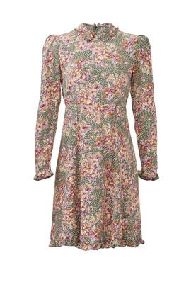 Green Bouquet Collar Dress by byTiMo