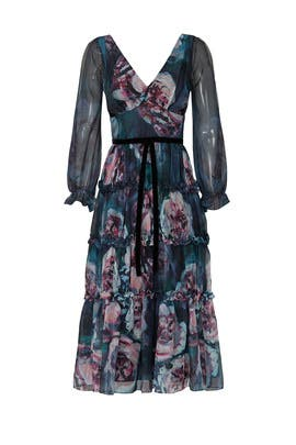 Ribbon Waist Dress by Marchesa Notte