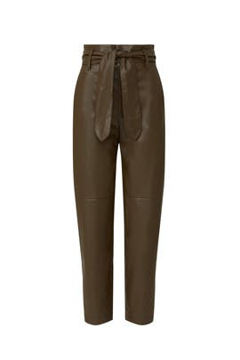 Tie Front Faux Leather Pants by Marissa Webb Collective