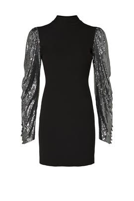 Sequin Sleeve Dress by Nicole Miller