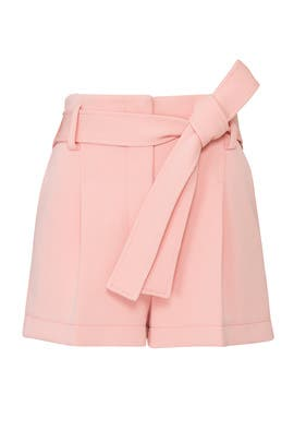 Pink High Waisted Structured Shorts by 3.1 Phillip Lim