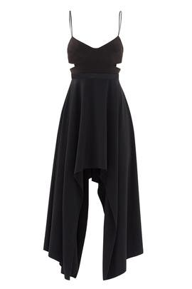 Black Cut Out Dress by HALSTON