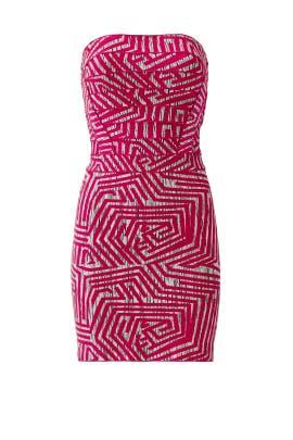 Pink Mod Maze Dress by Hervé Léger