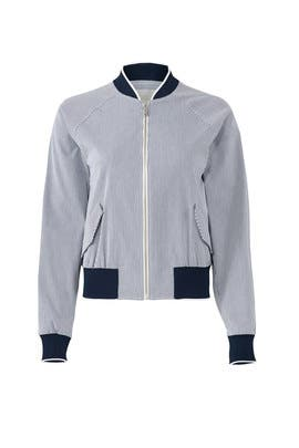 Stripe Bomber Jacket by Jason Wu