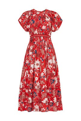 Floral Lottie Midi Dress by Ulla Johnson