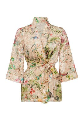 Floral Printed Kimono Top by Hemant & Nandita
