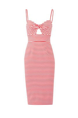 Red Striped Margot Dress by Hutch
