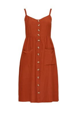 Button Down Midi Dress by JUNAROSE