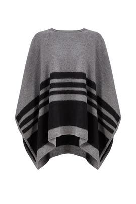 Grey Stripe Poncho by kate spade new york