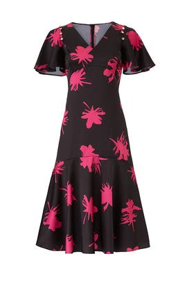 Tulip Print Flutter Dress by Prabal Gurung Collective