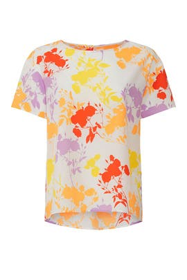 Multi Color Floral Blouse by Peter Som Collective