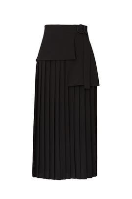 Side Tie Pleated Skirt by Victoria Victoria Beckham