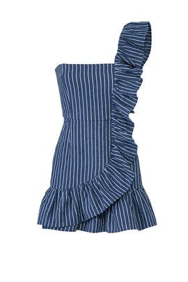 Konner Blue Stripe Dress by Alexis