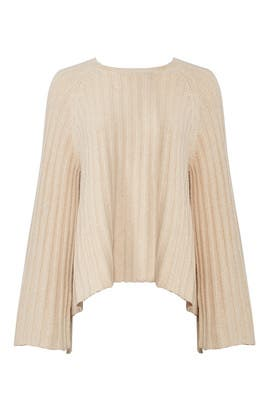Camel Flounce Sweater by Elizabeth and James