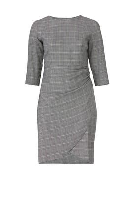 Faux Wrap Plaid Dress by ELOQUII
