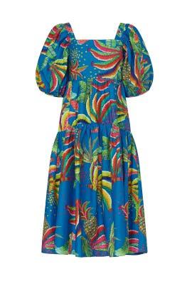 Blue Banana Midi Dress by FARM Rio