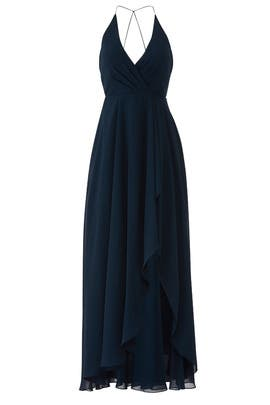 Navy Farrah Gown by Jenny Yoo