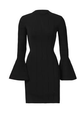 Black Bell Sleeve Sheath Dress by Keepsake