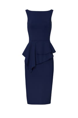 Navy Peplum Sheath by La Petite Robe di Chiara Boni