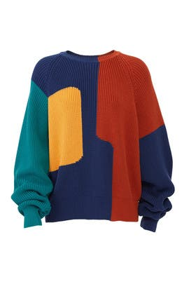 Colorblock Avery Sweater by Mara Hoffman