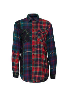 Contrast Plaid Shirt by Polo Ralph Lauren