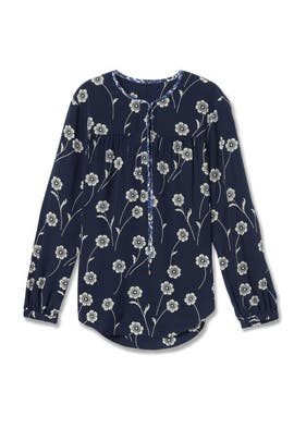 Midnight Tie Blouse by Derek Lam 10 Crosby