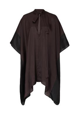 Short Chocolate Caftan Blouse by Haider Ackermann