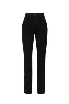 Black High Rise Slim Jeans by Jordache