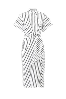Striped Drape Shirtdress by Jason Wu