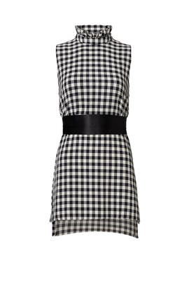 Navy Check Blouse by Mother of Pearl