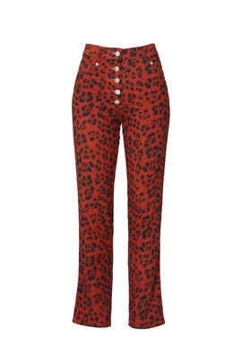 Red Leopard Junior Jeans by MIAOU