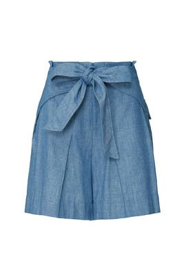 Chambray High Waisted Shorts by 3.1 Phillip Lim