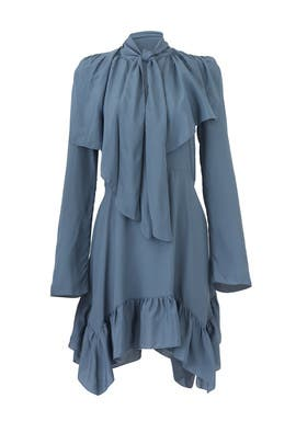 Blue Neck Tie Dress by See by Chloe