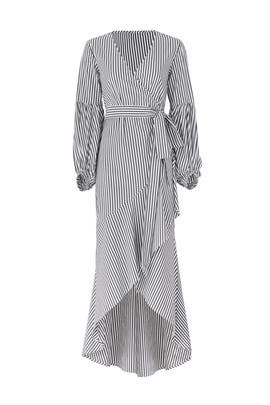 Superior Stripe Wrap Maxi by Shilla