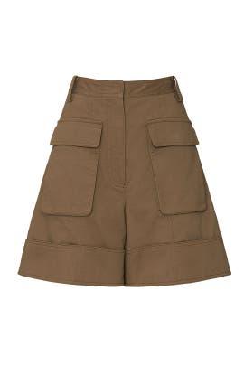 Myriam Cuffed Cargo Shorts by Tibi