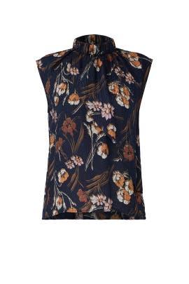 Floral Jacquard Blouse by Derek Lam 10 Crosby